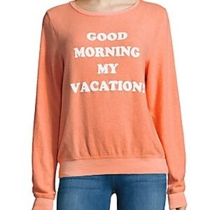 wildfox good morning my vacation long sleeve